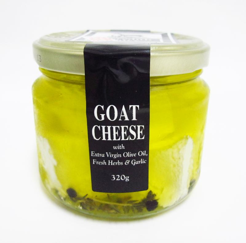 Meredith Dairy Goat Cheese with extra virgin olive oil, fresh herbs & garlic