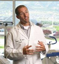 Dr. T in Lab Coat