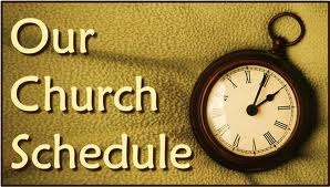 CHURCH SCHEDULE
