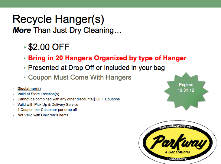 parkway cleaners – Coupon Disclaimers