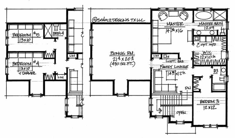 Optional layout with bedrooms 4 and 5