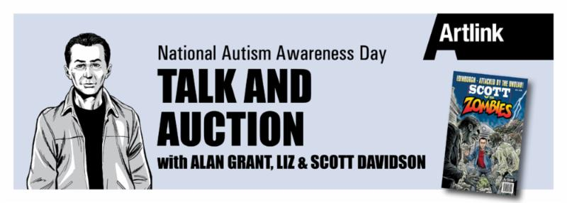 Young autism sufferer teams up with comic legends to raise awareness