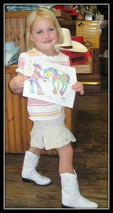 Little Girl with Coloring