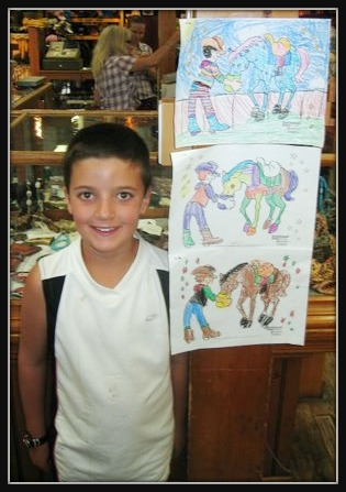 Little Boy with Coloring