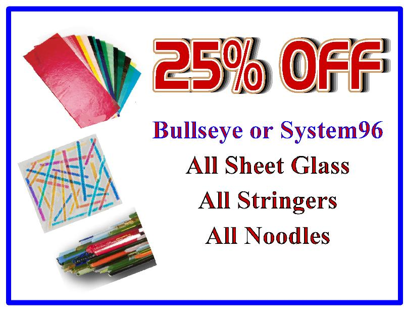 25% OFF Bullseye & System96 Sheet Glass