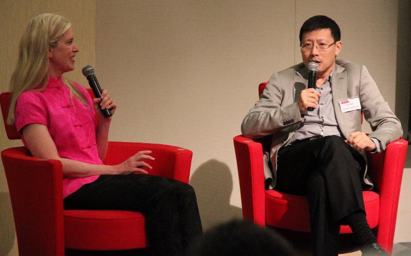 Rebecca with Neil Shen