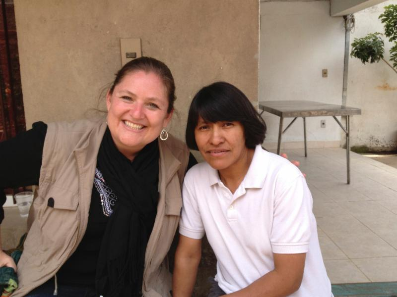Kristy with Goretti Jora, a leader of ministry in Cochabamba, Bolivia