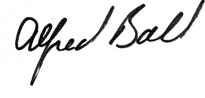 Alfred Ball's Signature