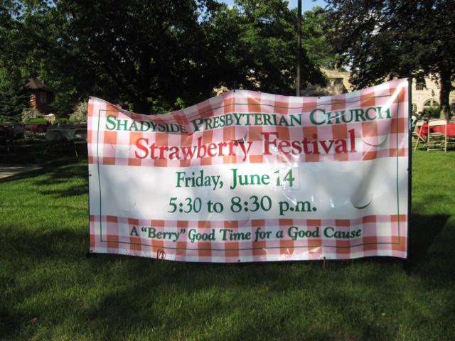 Strawberry Festival sign