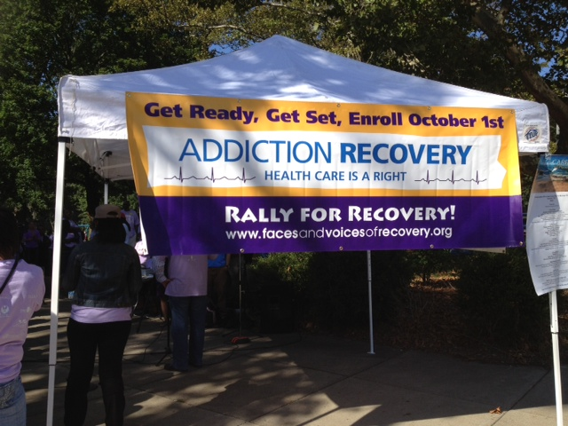 Recovery Walk 2013 sign