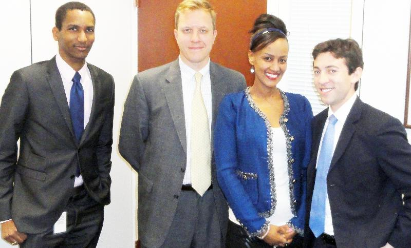 Sophia Bekele with Congressional Staffers in Washington DC