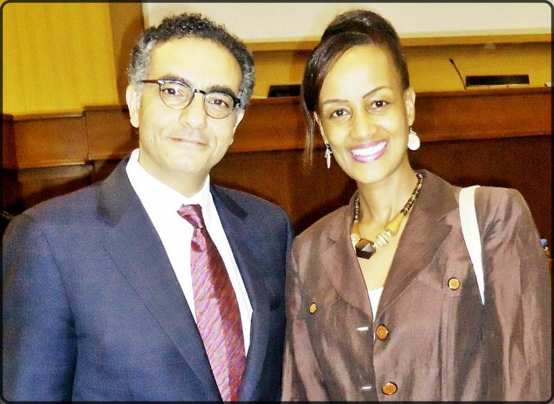 Ms. Sophia Bekele & Fadi Chehade at ICANN Africa Strategy Addis Ababa
