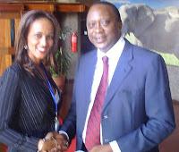 Ms. Sophia Bekele with H.E.Uhuru Kenyatta