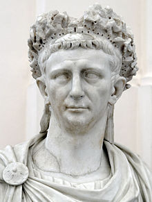 Bust of Emperor Claudius.