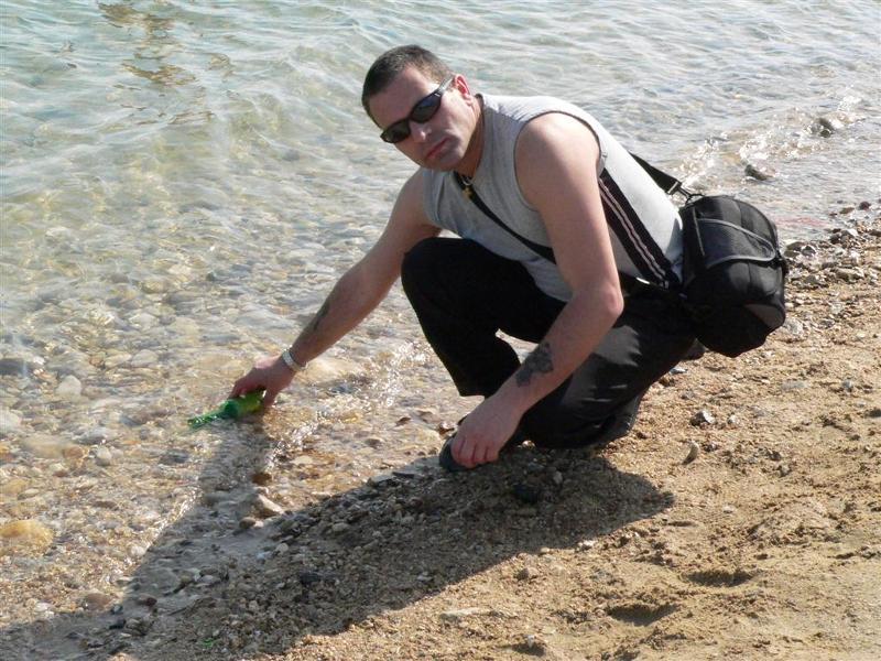 Simon at the dead sea.