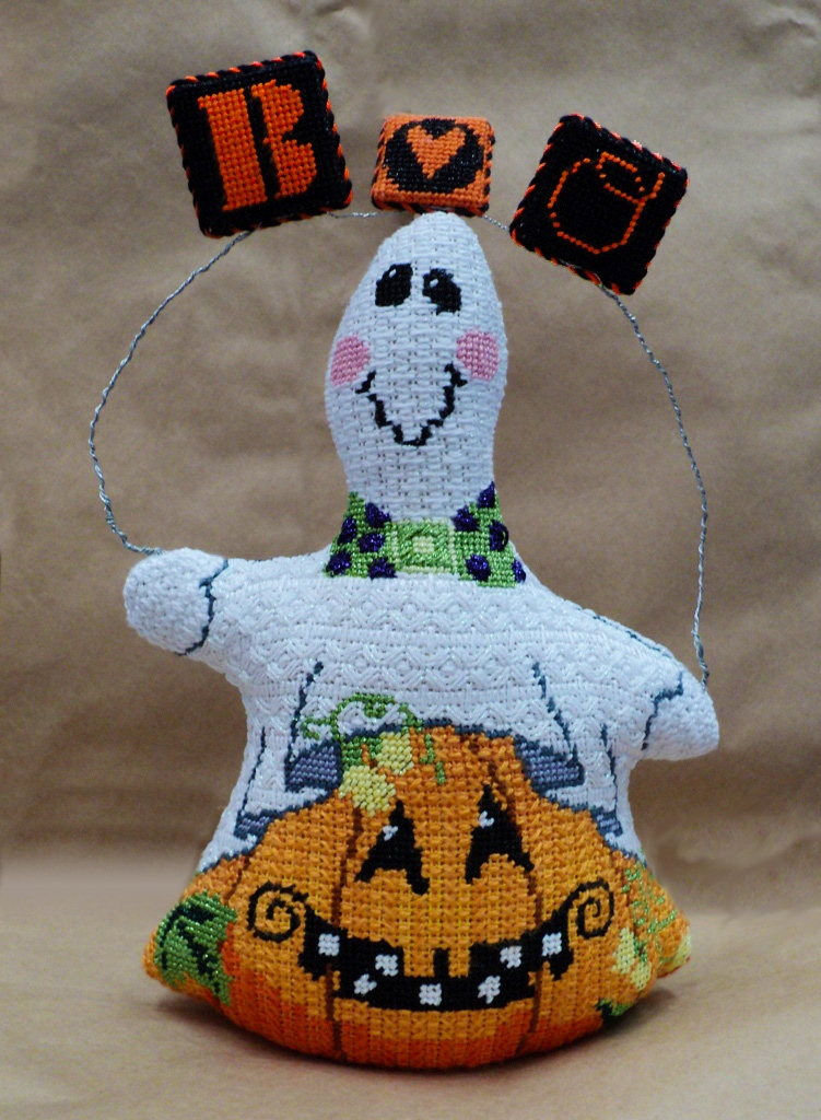 Boo! from the crew Halloween Needlepoint by Sandy Grossman-Morris