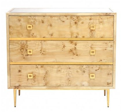 chest of drawers with gold accents