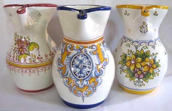 Photo of 3 Ceramic Sangria Pitchers