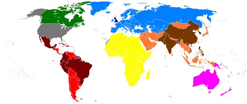 DV Eligible Countries by Heitordp [Public domain], via Wikipedia.