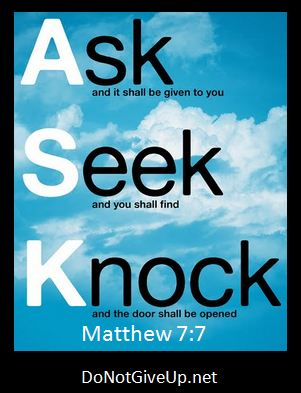 Image result for ask seek knock pictures