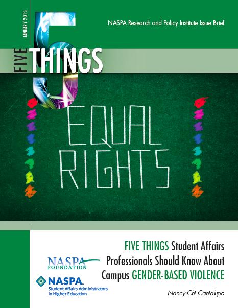 NASPA 5 things brief cover