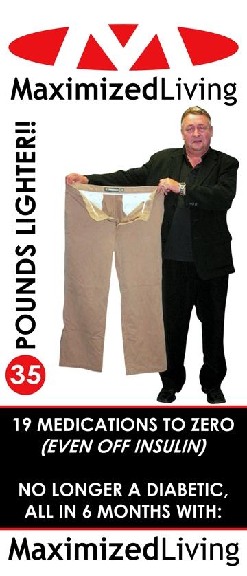 35  pounds lighter