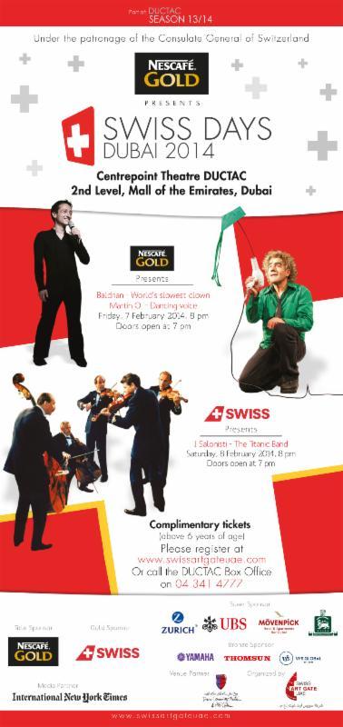 Swiss Days Dubai 2014 Flyer