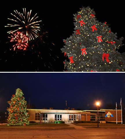 fireworks/tree