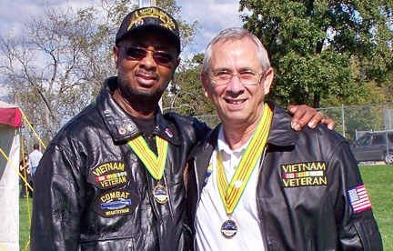 Mayor Carson Ross and Orlando Gallardo