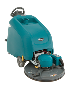 Tennant B5 Battery Burnisher comes standard with active HEPA dust control air filtration and as low as 63 dBA