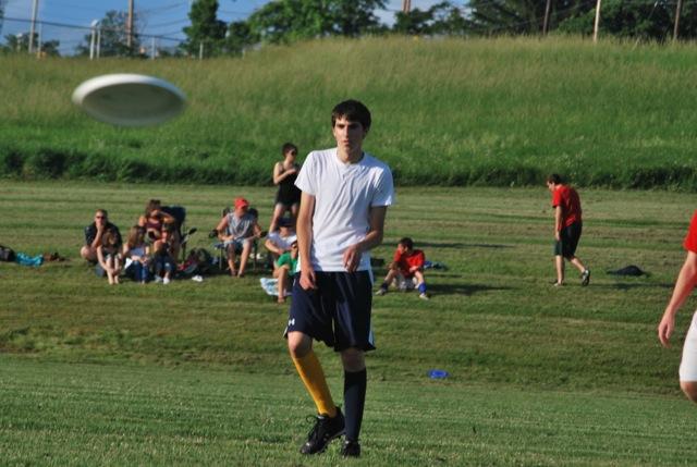 Jeff playing frisbee