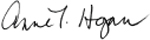 anne t. hogan signature
