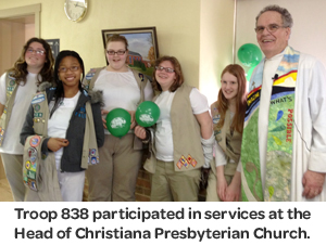 girl scout religious awards, troop 838
