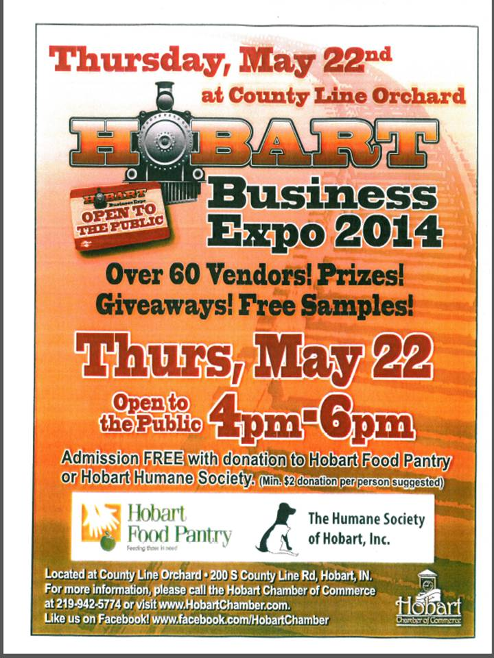 May 6, 2014 Business Expo May 22nd at County Line Orchard! To