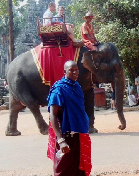 Kisioki with elephant