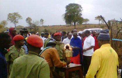 Receiving the Uhuru Torch in Esilalei