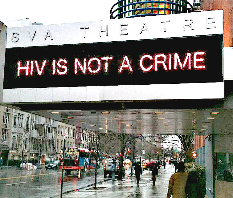 Sero screened the film HIV is Not a Crime in New York City on