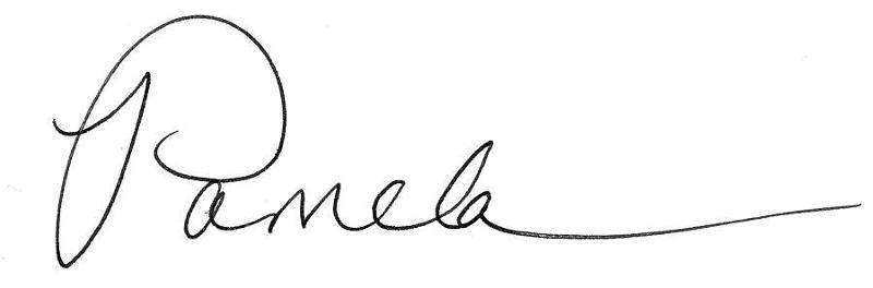 Pamela's signature