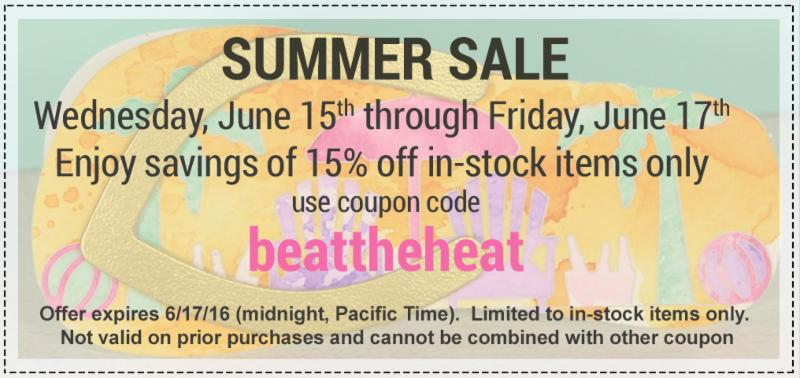 Use coupon code beattheheat to save 15 percent to save on all in-stock items