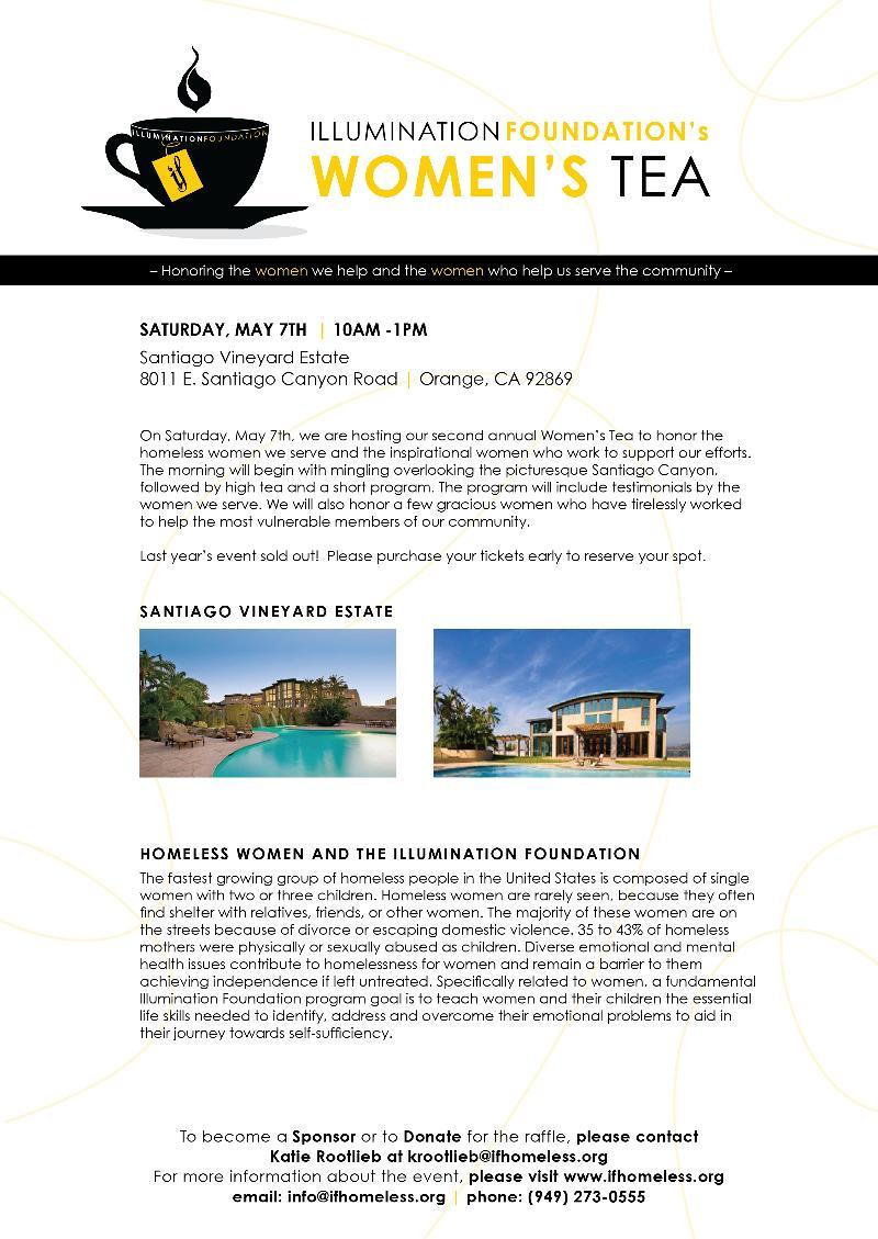 2011 Women's Tea and April Newsletter