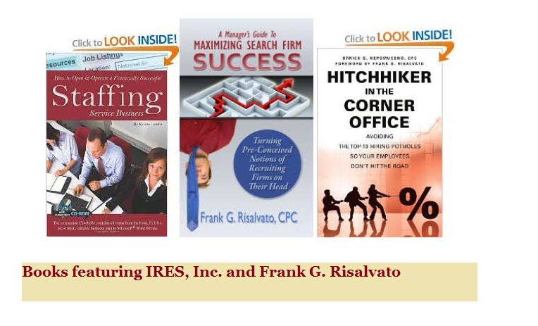 Recruiting and staffing books featuring IRES and Frank Risalvato