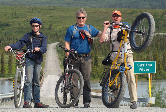 Biking the Denali Highway with Larry and my son Caleb