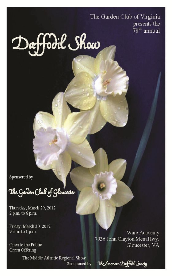 2012 Daffodil Show Schedule Cover