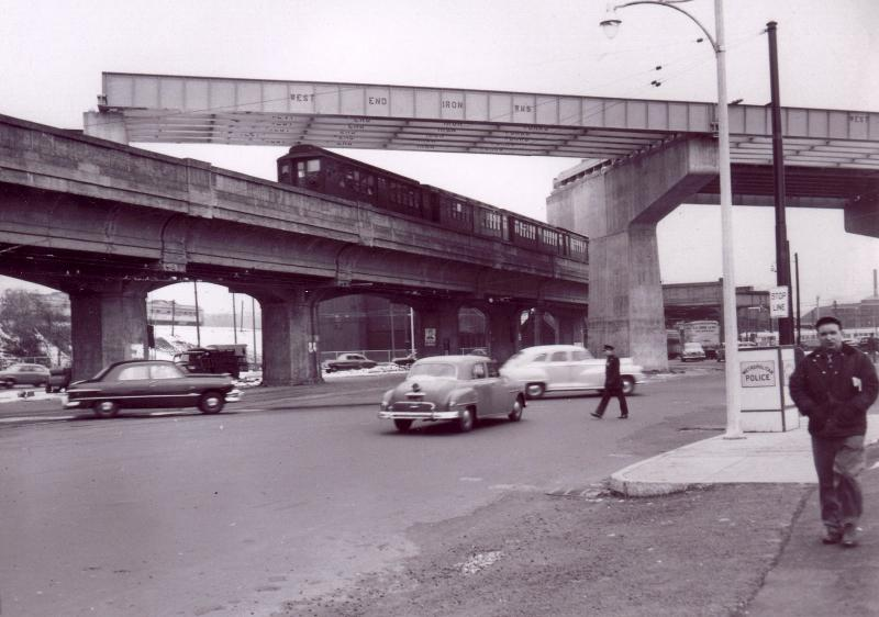 Building the Casey Overpass in the 1950s