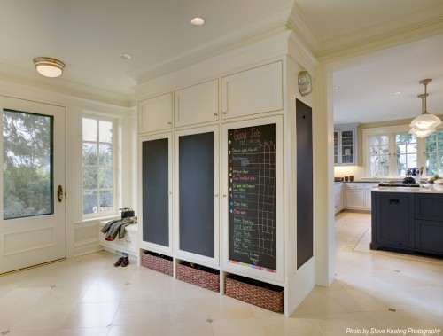 Mudroom with Chalkboard