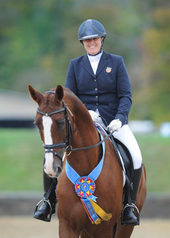 Mary Jordan and Rubicon 75 at the Great American Insurance Group/ United States Dressage Federation Region 8 Championships presented by New England Dressage Association (NEDA) September 18-21, 2014 ©Amy E. Riley/STUDIO EQUUS