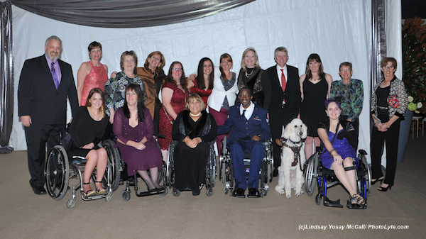 United States Para-Equestrian Athletes, Chef d' Equipe Kai Handt, trainers, and their support staff Photo by Lindsay Y McCall (Cambry Kaylor, Roxanne Trunnell, Hope Hand, Derrick Perkins, Sydney Collier. Back Row left to right: Brian Kaylor, Regina Cristo, Josette Trunnell, Susan Guinan, Ellie Brimmer,Ashley Flores-Simmons, Susan Treabess, Tina Wentz, Kai Hndt( Chef d'Equipe), Mary Jordan, Dale Dedrick, Roz Kinstler.