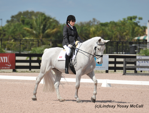 Jody Schloss and Inspector Rebus at the AGDF in Wellington, FL. Photo by Lindsay Y McCall