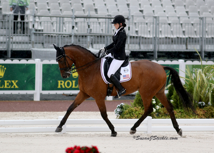 Individual US para-equestrian dressage competitor Angela Peavy finished tenth with Ozzy Cooper in the Grade III team test on a score of 65.421 percent.