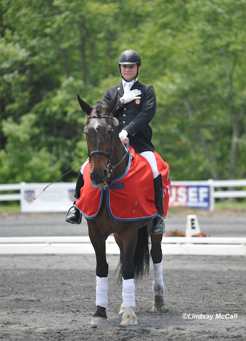 2012 USEF Para-Equestrian Dressage Selection Trials for the London Paralympics/ National Championship. Photo is of Jonathan Wentz and NTEC Richter Scale at the USET Foundation Headquarters in Gladstone, NJ. Photo by Lindsay Y. McCall